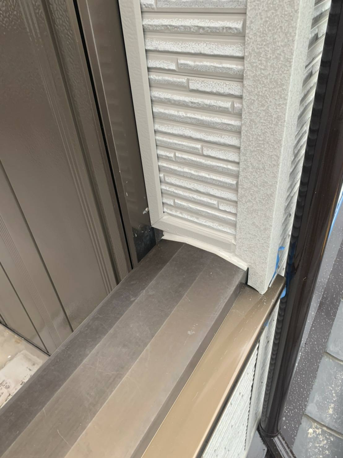 岡崎市K地区波板張り替え、コーキング、ベランダウレタン防水工事4