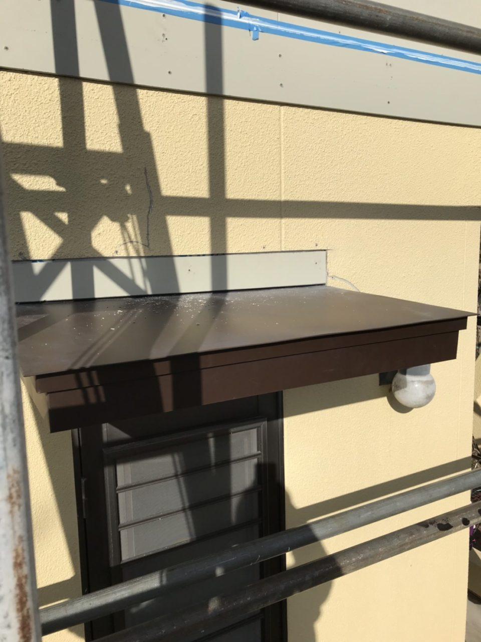 サイディング張り替えた所の塗装3