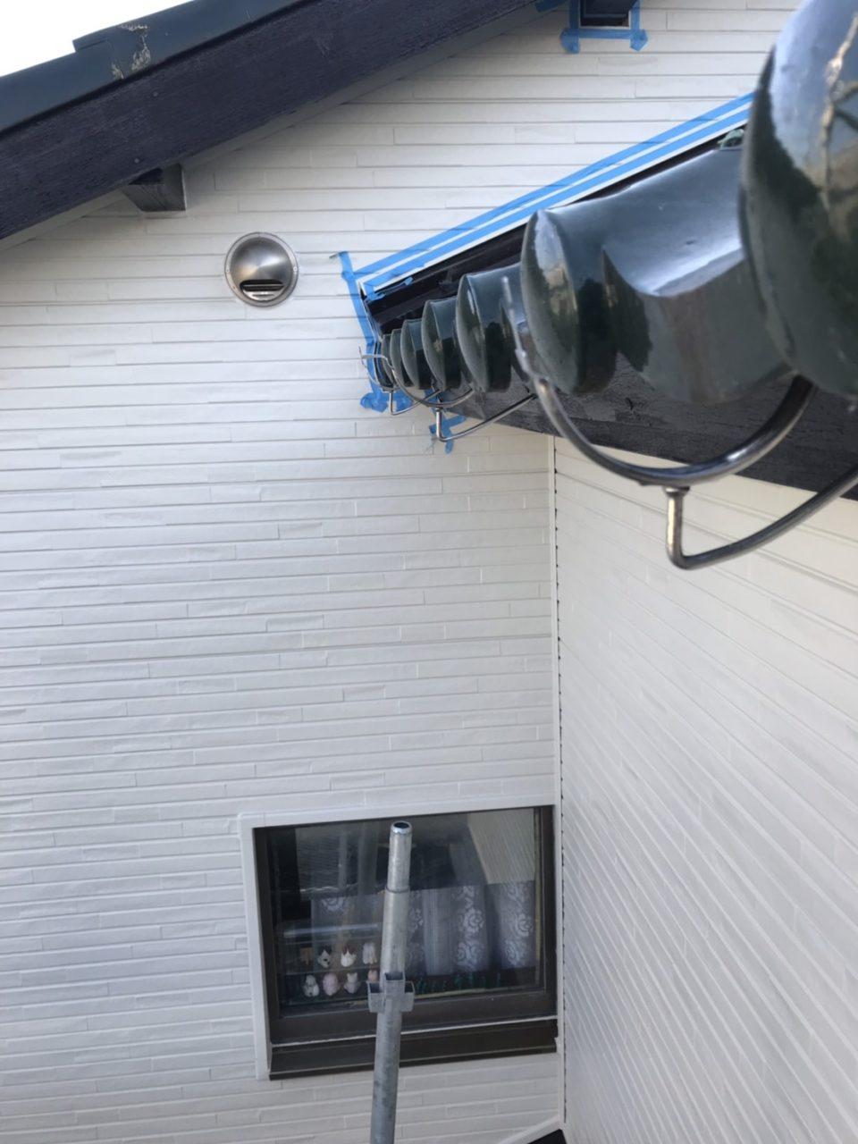 西尾市サイディング張り替え雨樋取り付け工事防水工事5