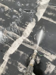 安城市防水工事 水洗い2