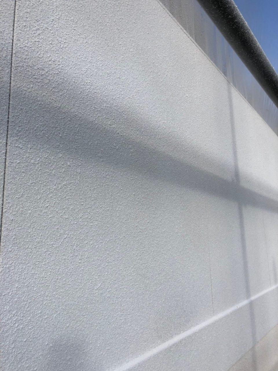 春日井市高蔵寺H様邸塗装工事 リシン吹き付け2