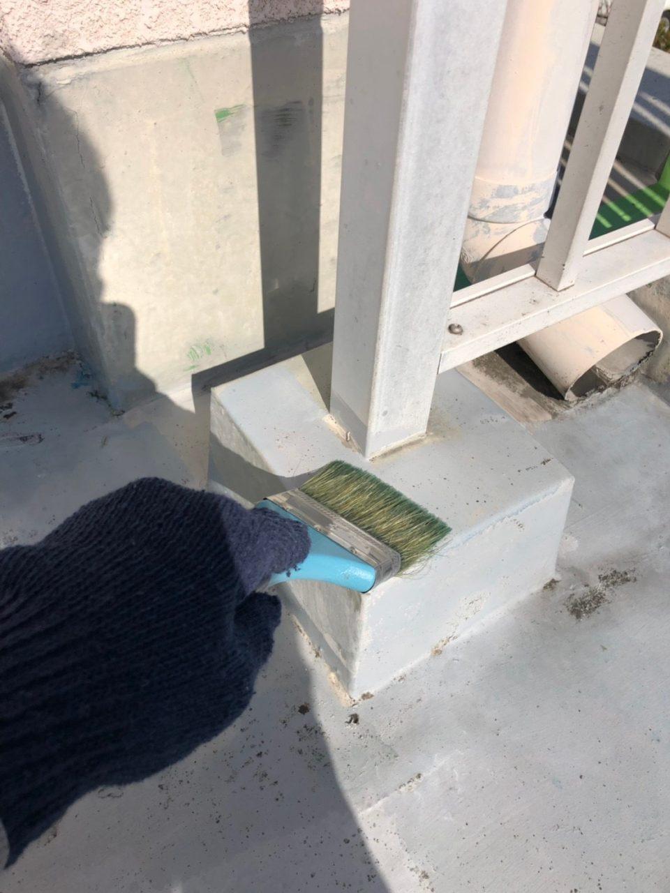 安城市防水工事 プライマー ウレタン一回塗り1
