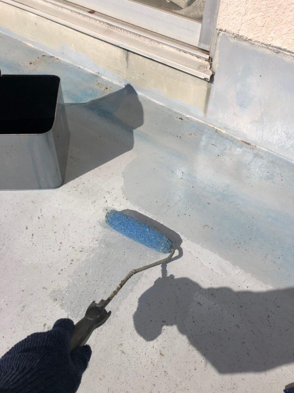 安城市防水工事 プライマー ウレタン一回塗り2