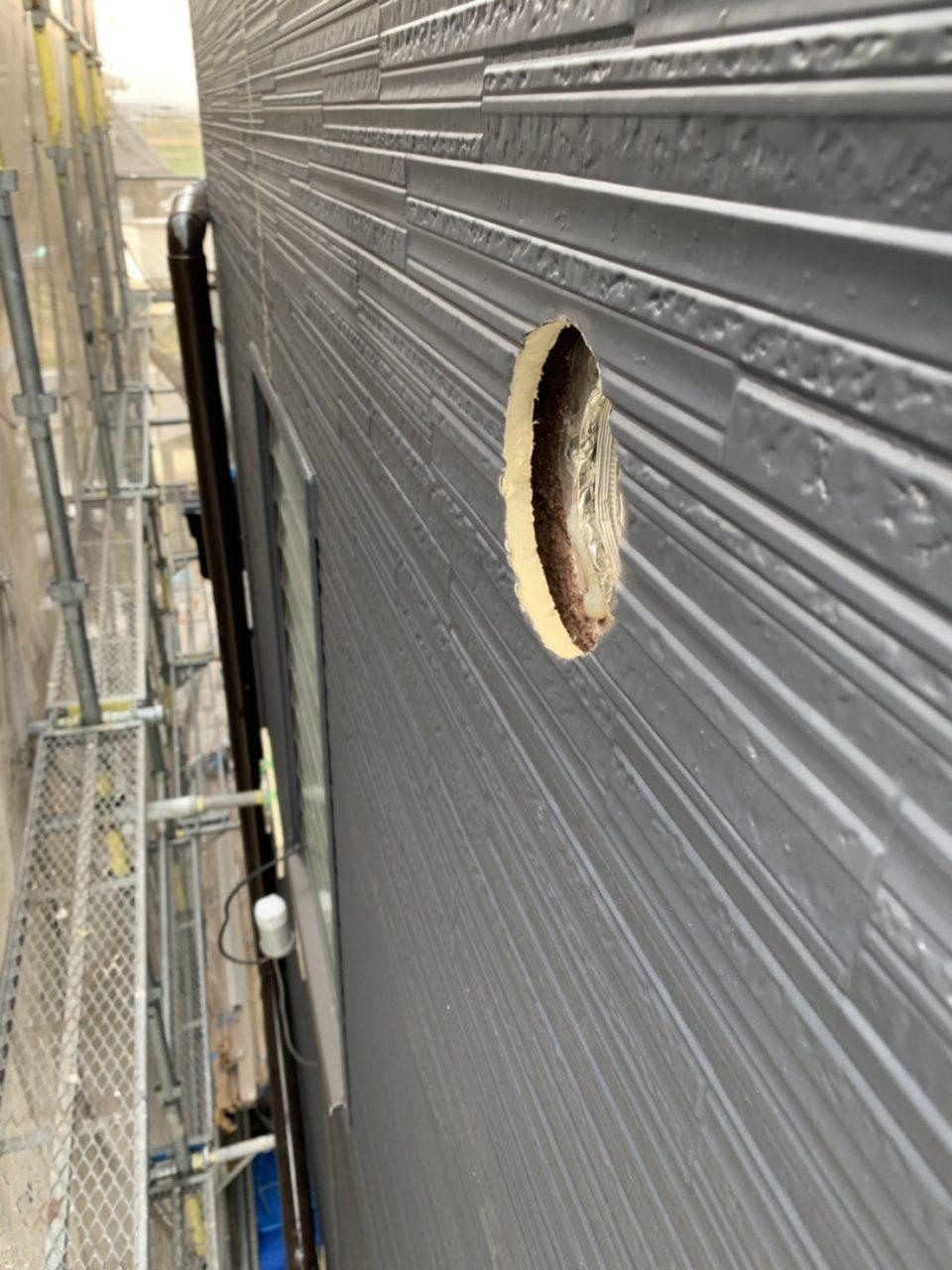 岡崎市サイディング貼り工事進行状況3
