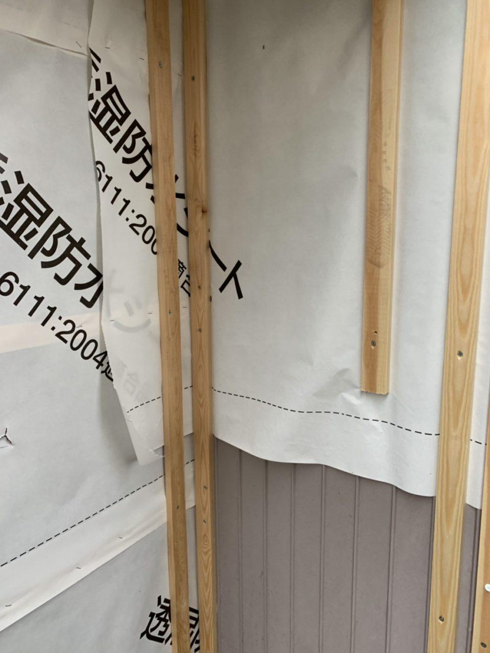 サイディング貼り胴縁取り付け作業2