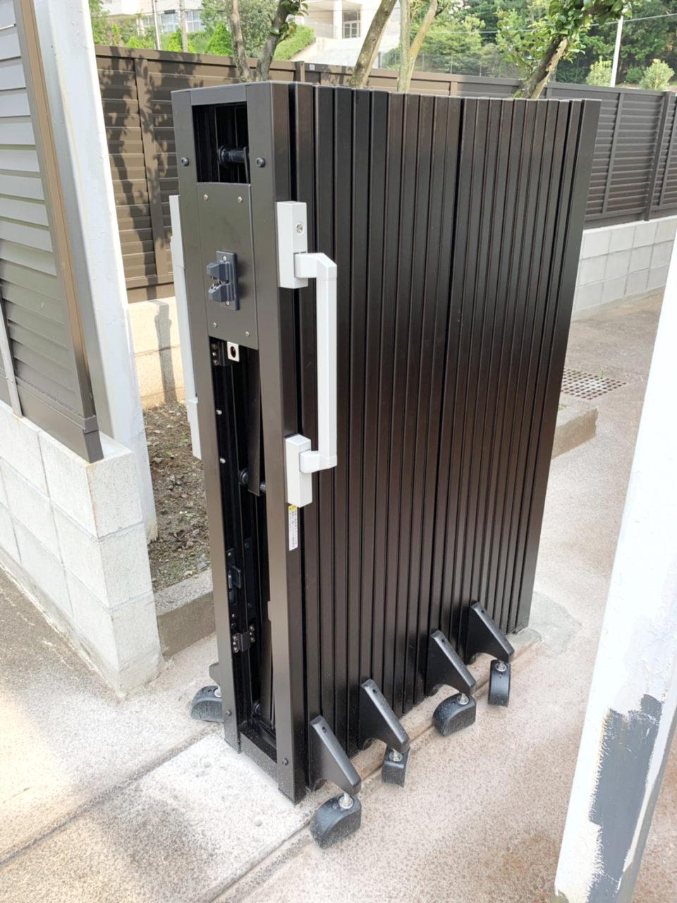 守山区株式会社Y様 ブロックアンカー 門扉取り付け完了