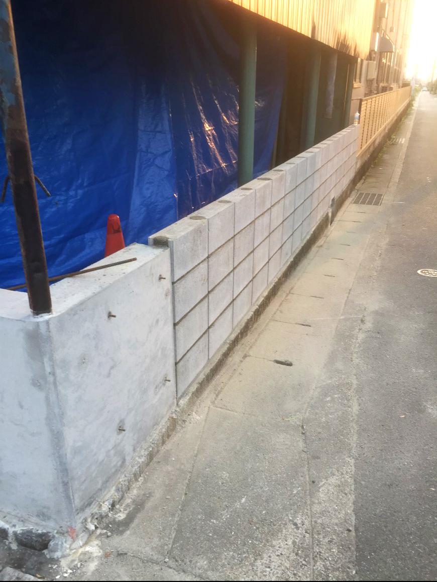 ブロック積み完了2