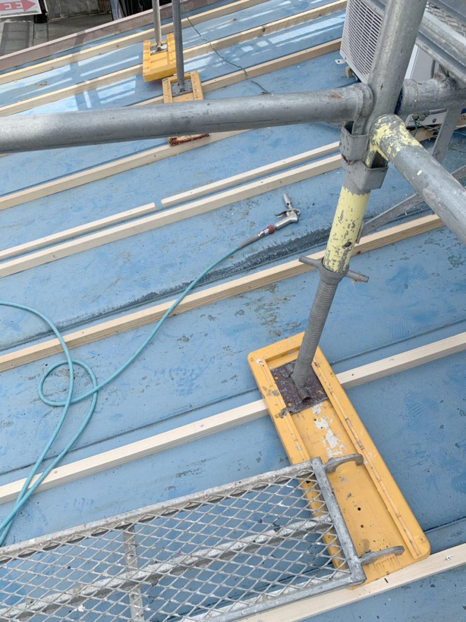 清洲市サイディング工事 瓦棒葺き替え下地工事1