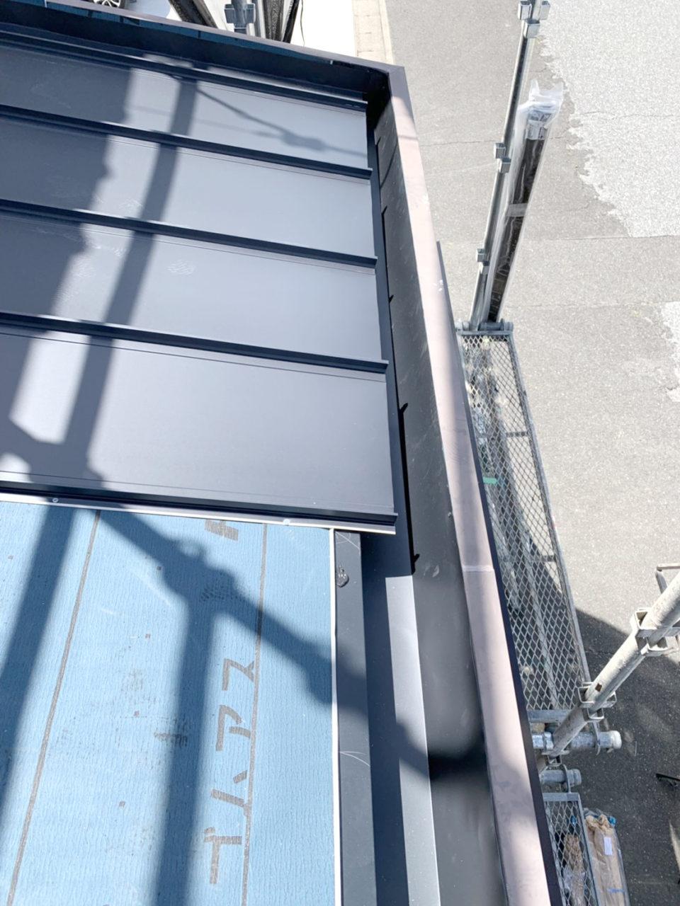 清洲市サイディング工事 瓦棒葺き替え2