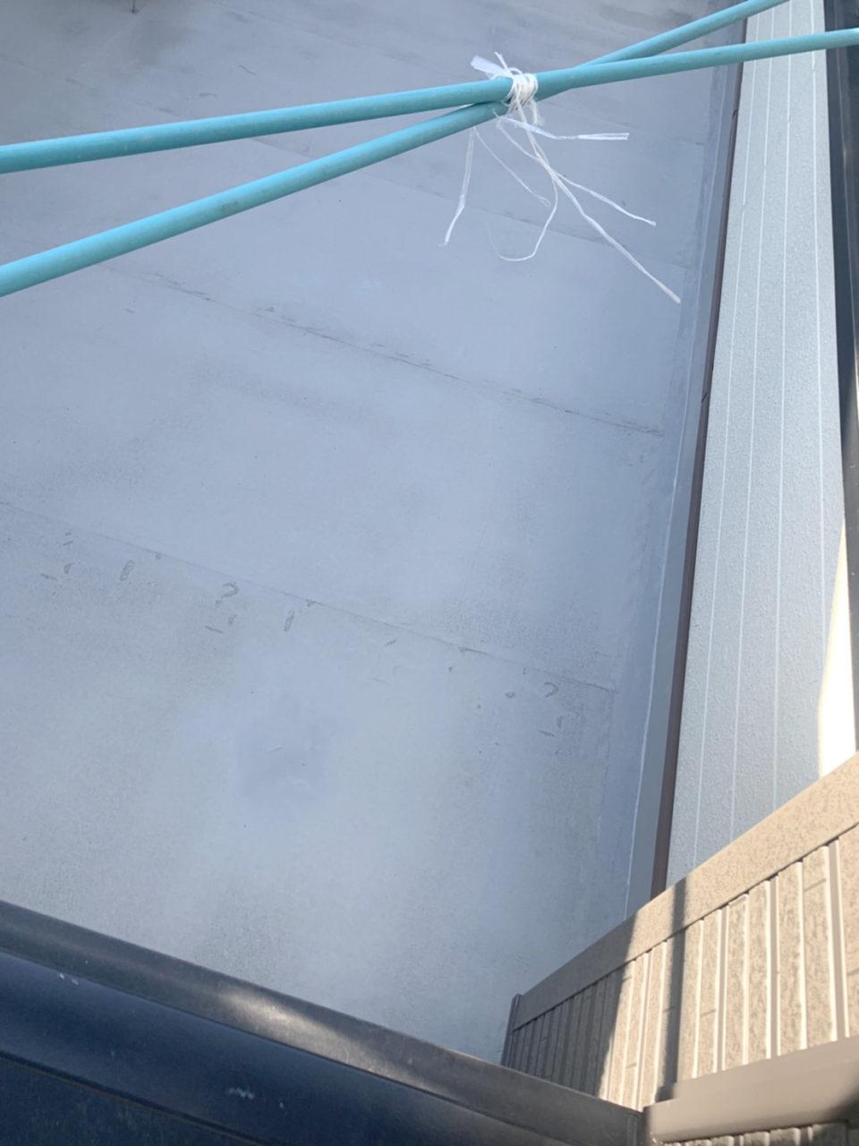 岡崎市N地邸宅ベランダのウレタン防水加工作業2
