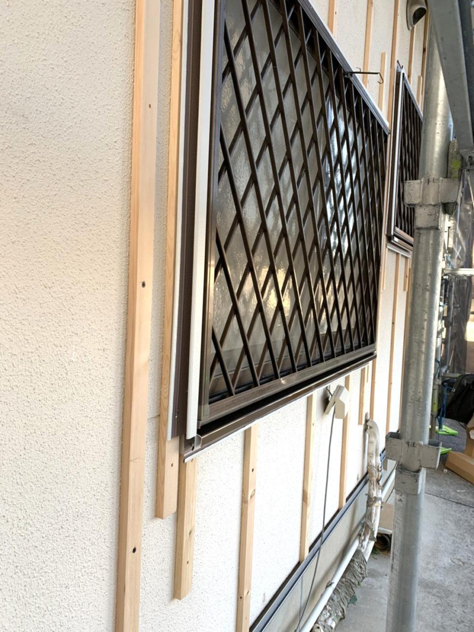 岡崎市H地区サイディング張り替え工事役物取り付け工事
