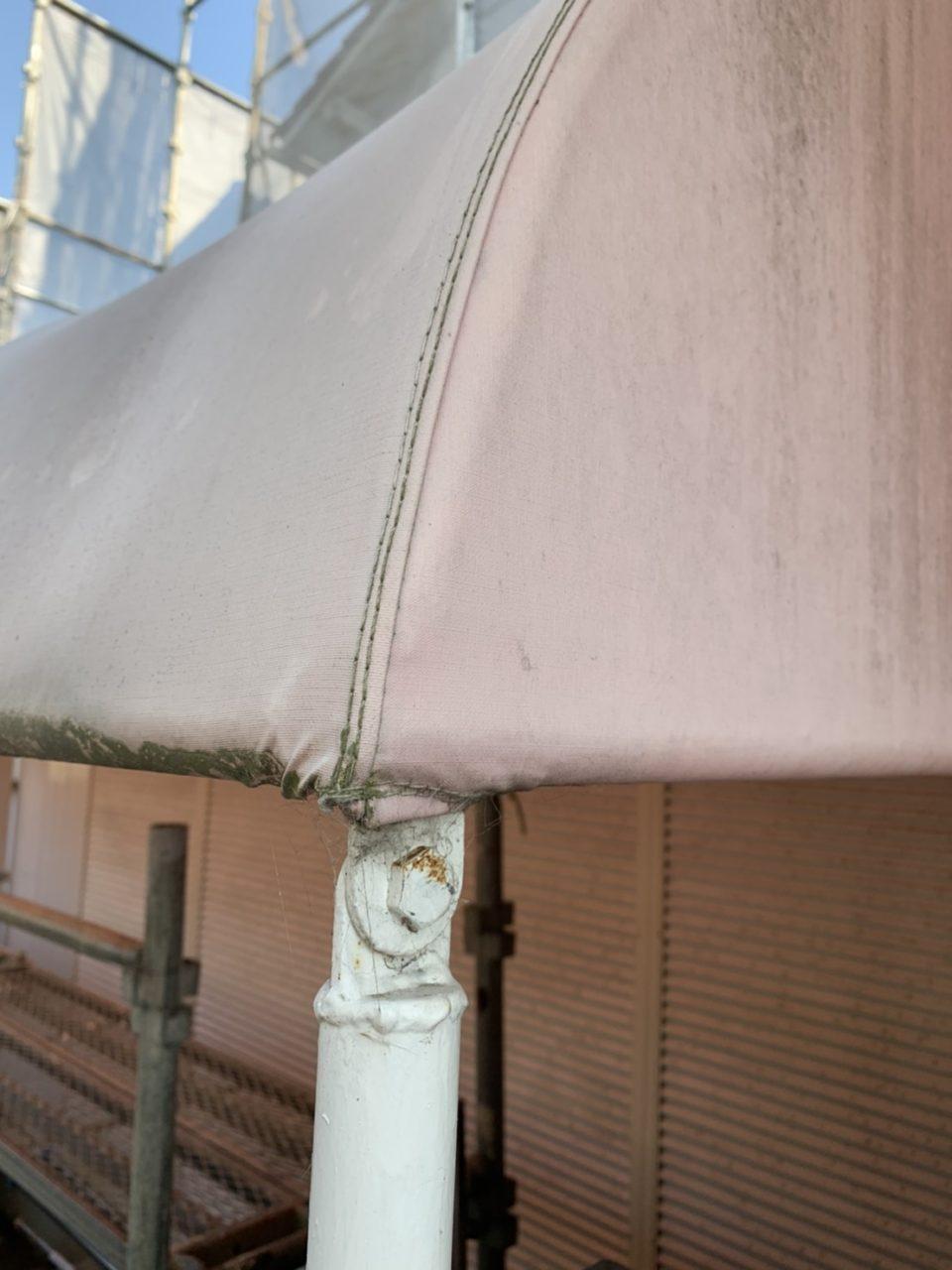 サイディング工事テント解体1