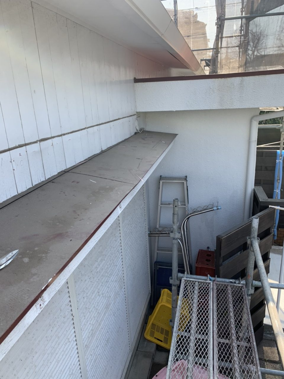 サイディング工事テント解体2