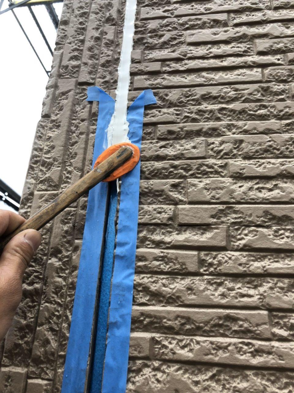 豊橋市塗装工事コーキング状況1