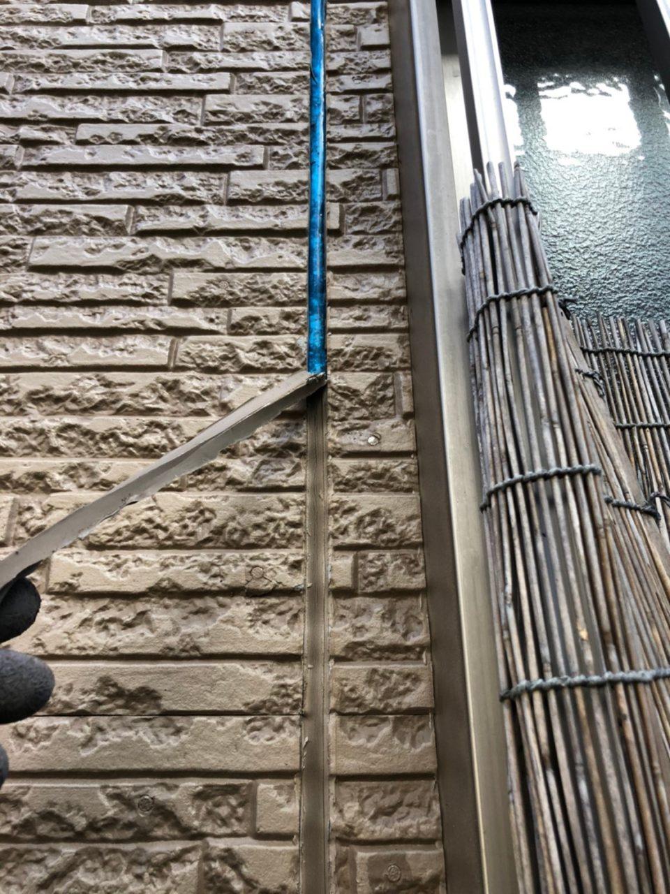 豊橋市塗装工事コーキング状況2