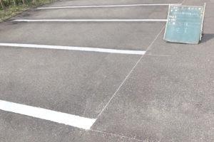 守山区株式会社Y様 駐車場のライン引き施工後